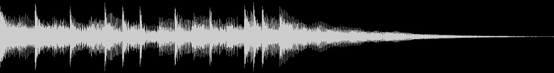 アコースティック楽器が追加された、...の未再生の波形