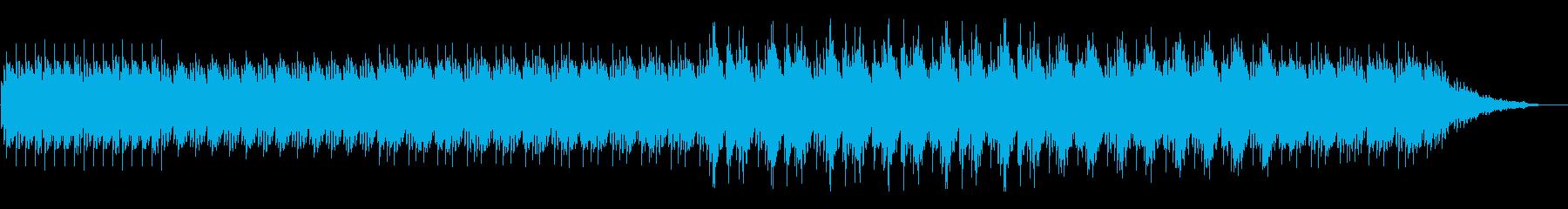 ミステリアスでアップテンポのテクノの再生済みの波形