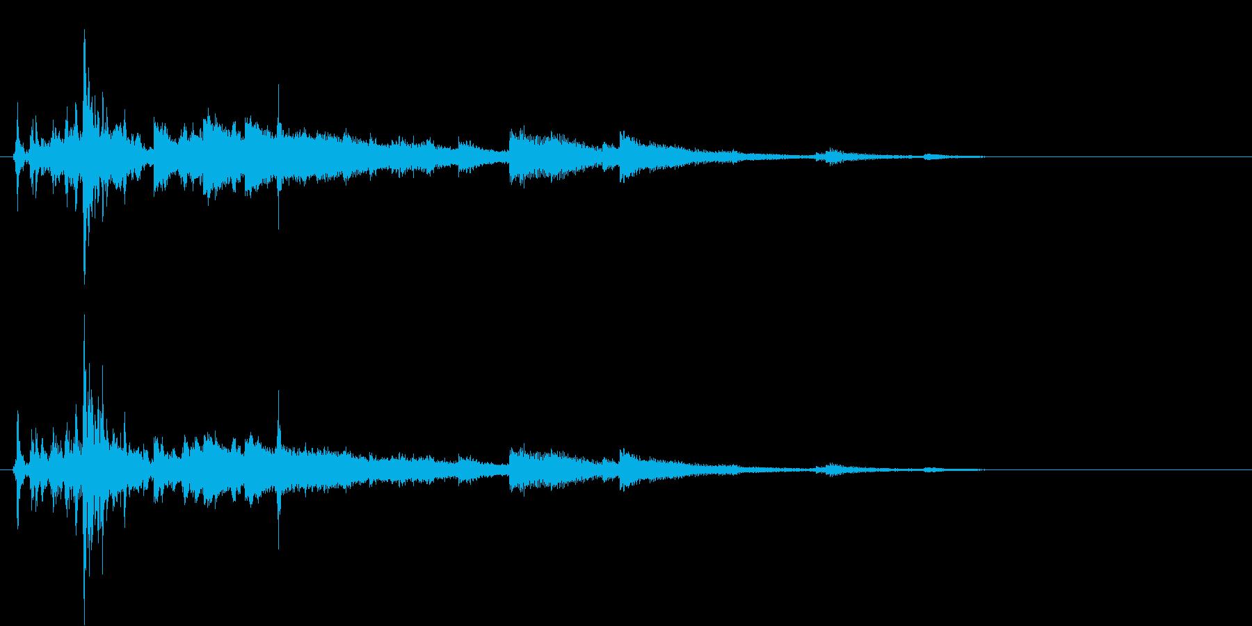 カフェなどに最適なドアベル付きオープン音の再生済みの波形