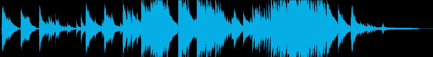 懐かしさもある優しいピアノBGMの再生済みの波形