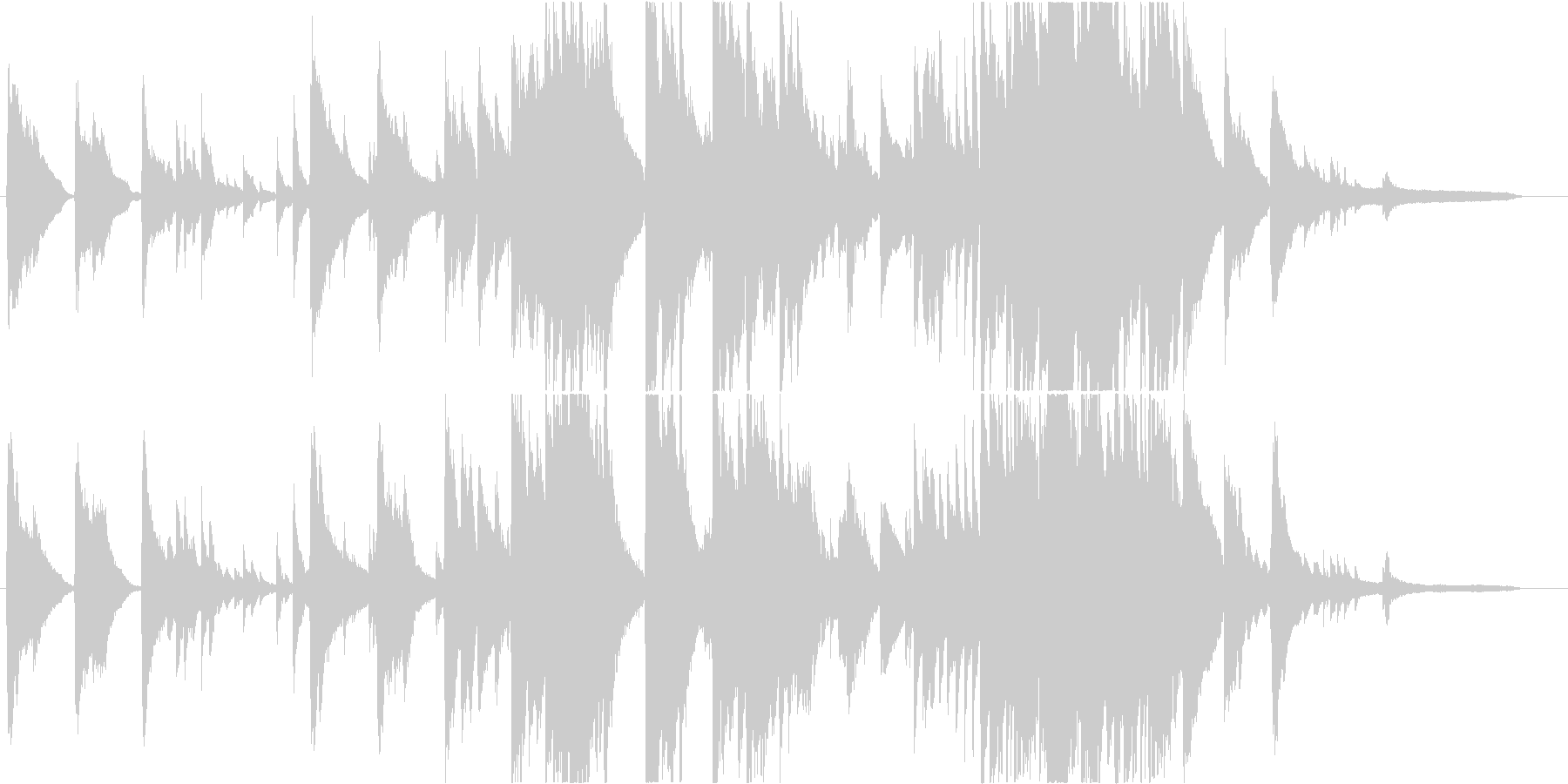 懐かしさもある優しいピアノBGMの未再生の波形