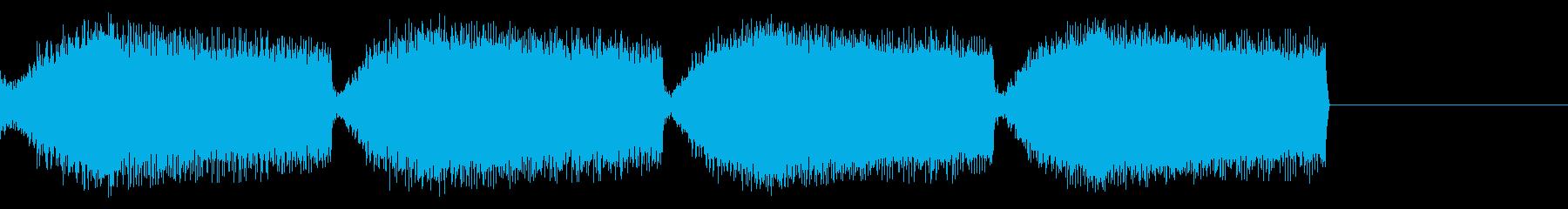 緊急警報の再生済みの波形