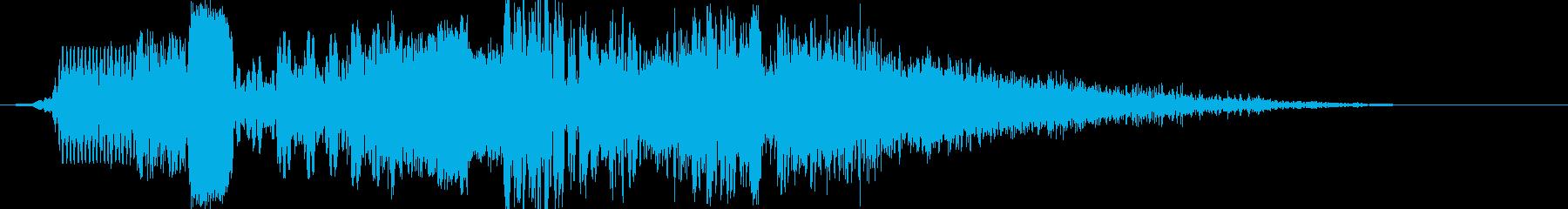 ラジオジングル制作キットの再生済みの波形