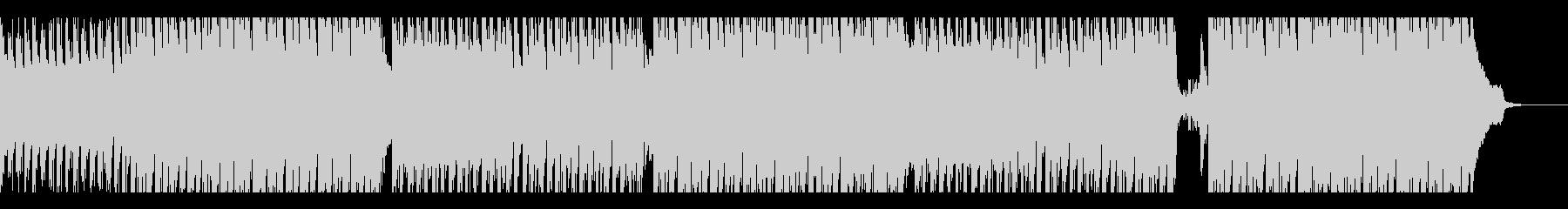軽快で爽やかなテクノBGMの未再生の波形