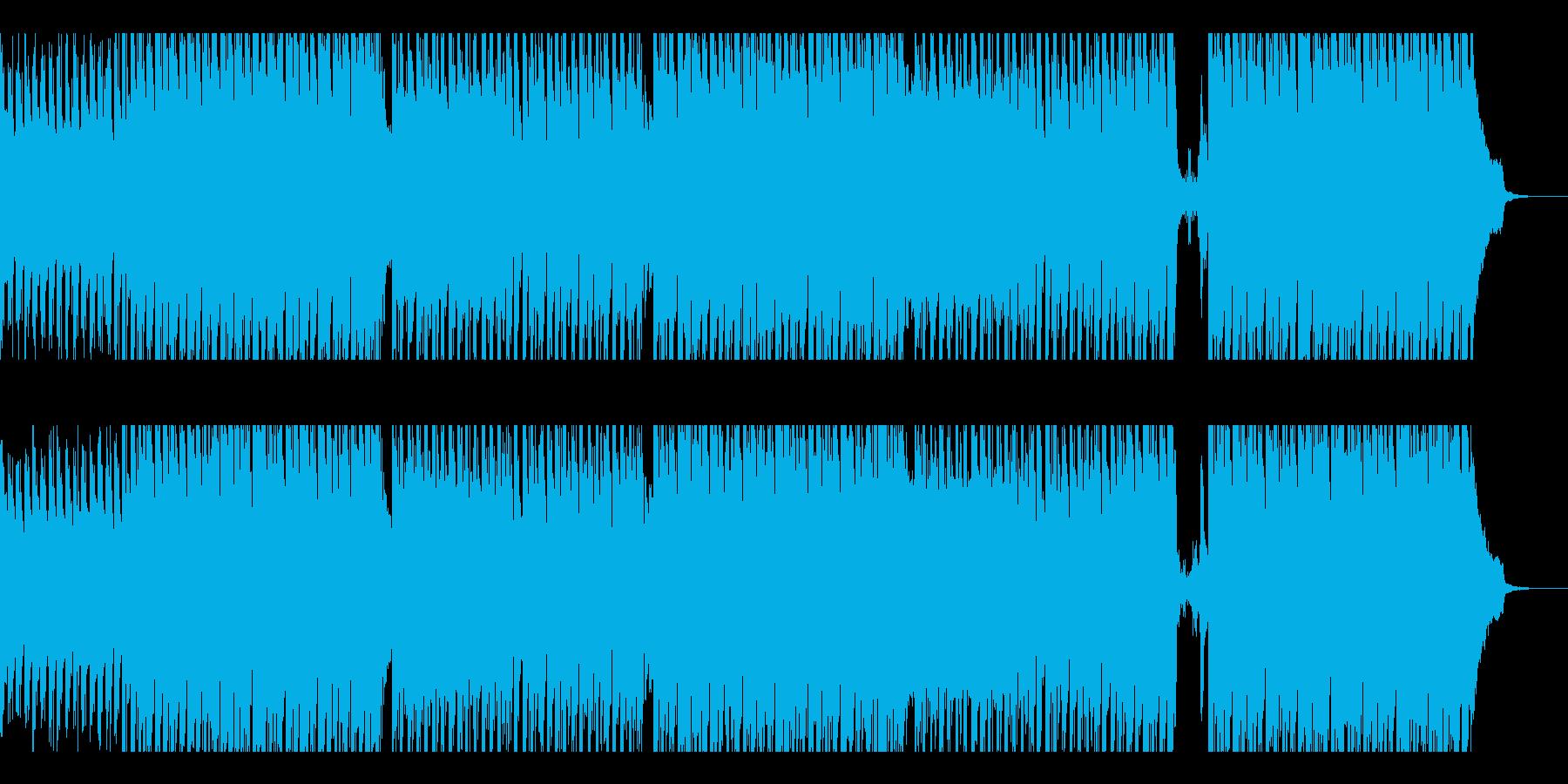 軽快で爽やかなテクノBGMの再生済みの波形
