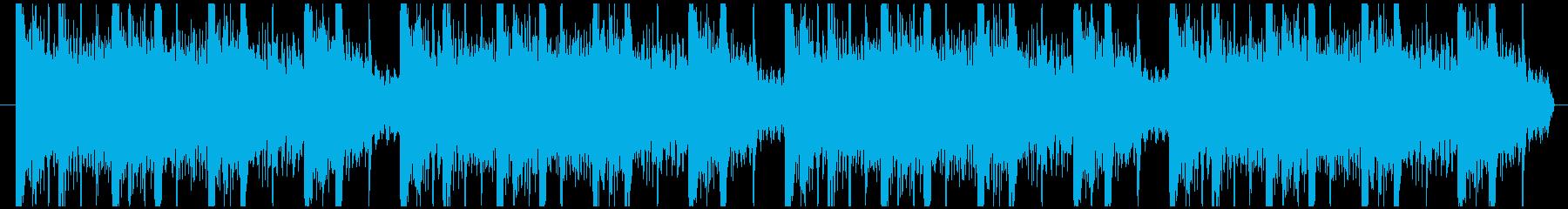 やさしい音の癒し系のエレクトロニカの再生済みの波形