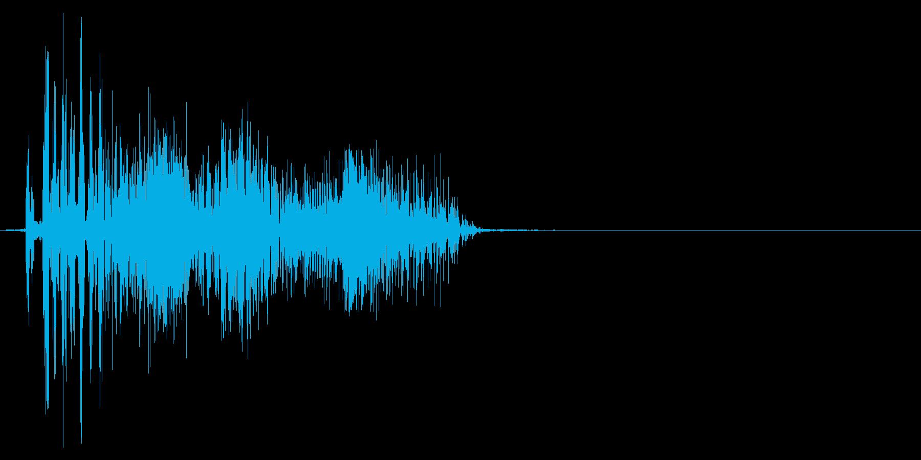 ジッパー、ファスナーを開ける音2-1の再生済みの波形
