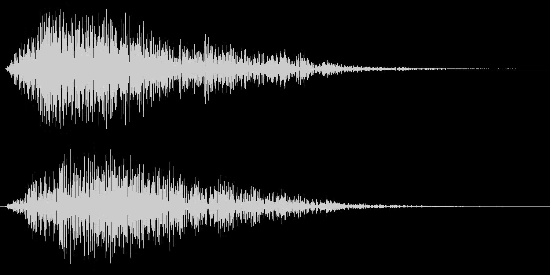 ブワーン+プゥ(幻想的な音)の未再生の波形