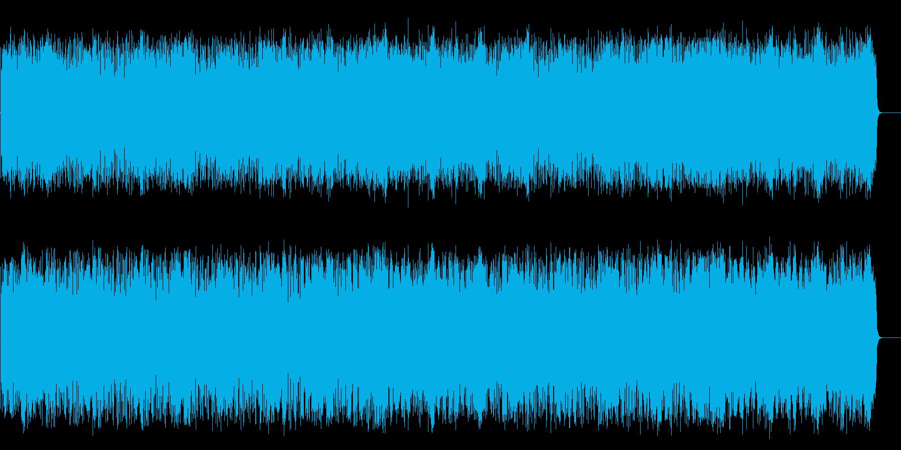 情報向けの軽快なポップス(フルサイズ)の再生済みの波形