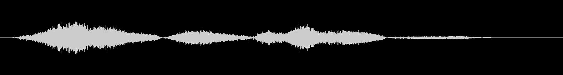 スネークヒス、インとアウトの未再生の波形