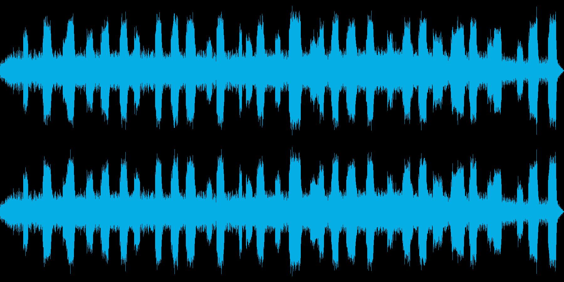 修理、工場イメージの環境音の再生済みの波形