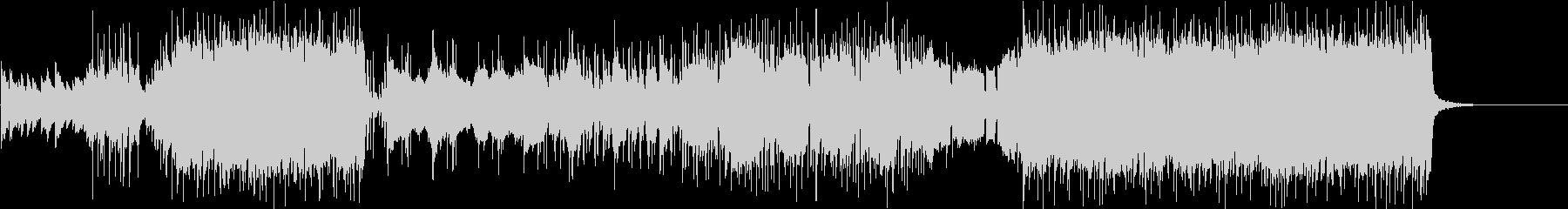 アニソン風ピアノとストリングス曲の未再生の波形