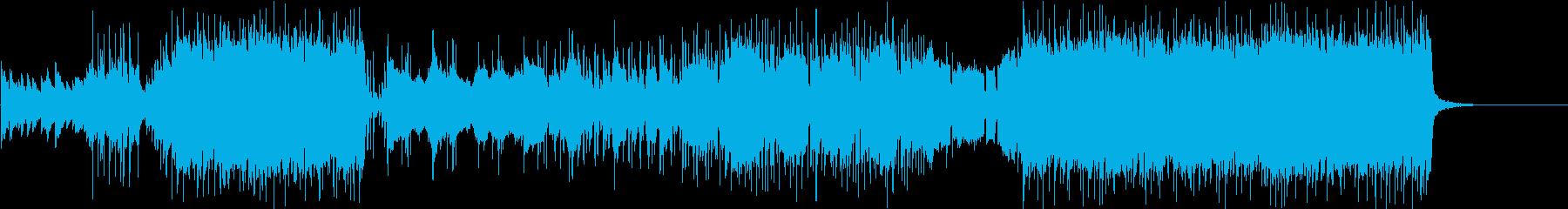 アニソン風ピアノとストリングス曲の再生済みの波形