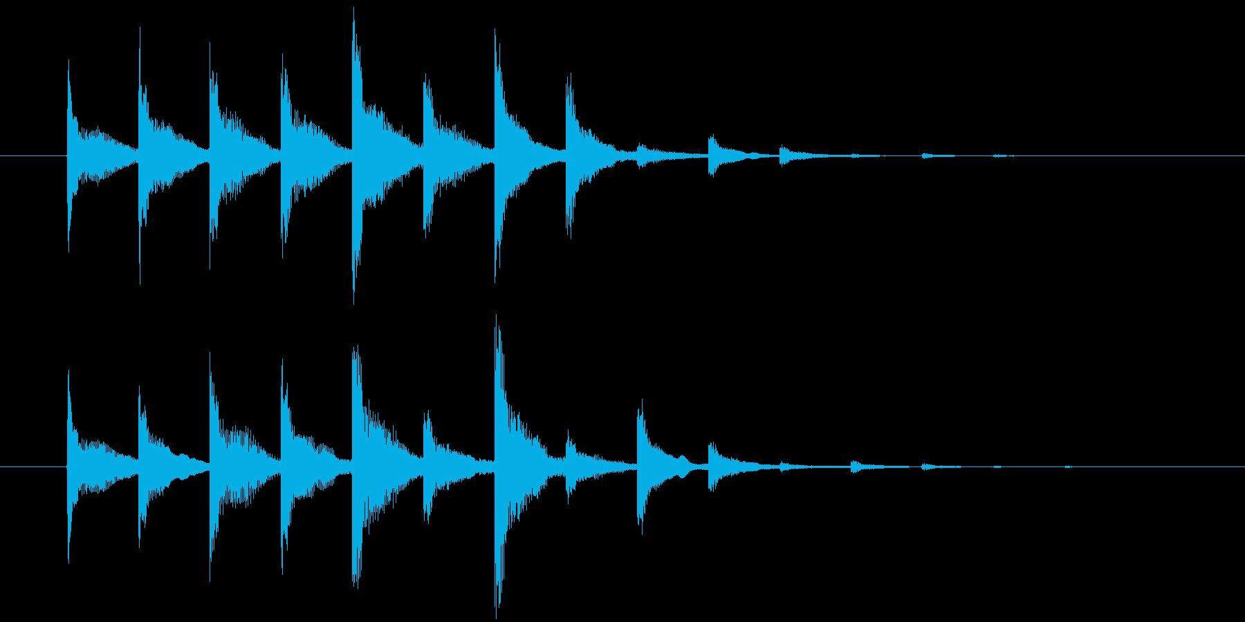 サウンドロゴの再生済みの波形