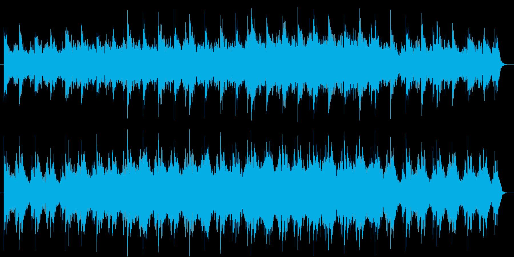 ピアノとバイオリンのエレクトロニカの再生済みの波形