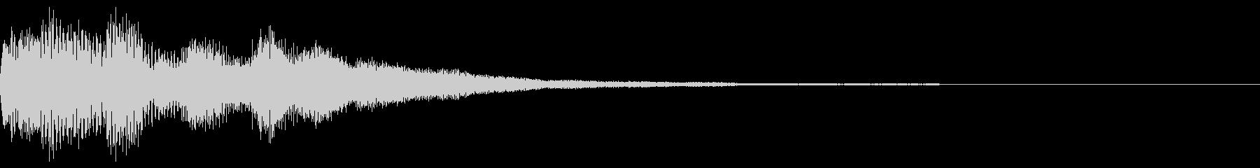 ポロロン オルゴール風優しい アルペジオの未再生の波形