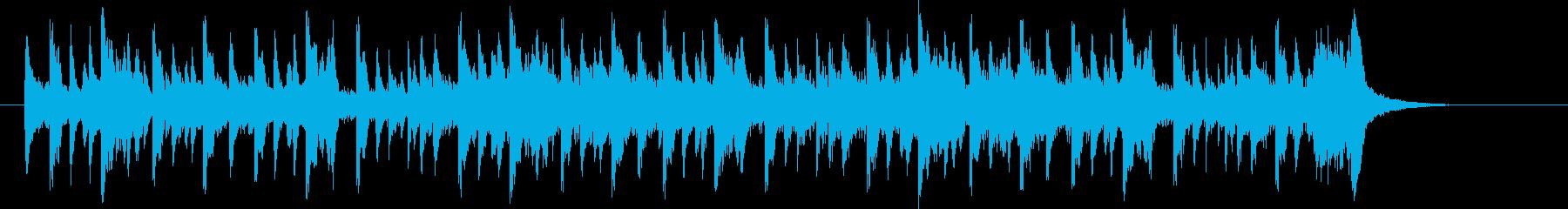 クールでロックなかっこいいジングル曲の再生済みの波形