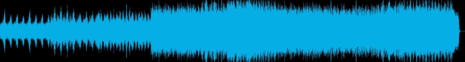 力強いダークファンタジー系BGMの再生済みの波形