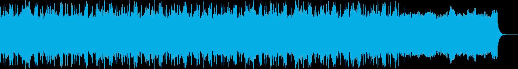 幻想的なアンビエント・テクノの再生済みの波形