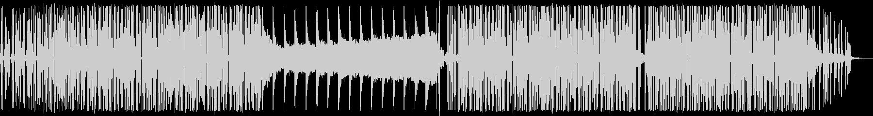 ニュース番組/事故/無機質なハウス音楽の未再生の波形