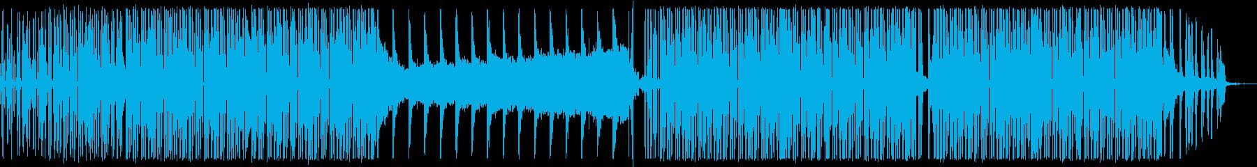 ニュース番組/事故/無機質なハウス音楽の再生済みの波形