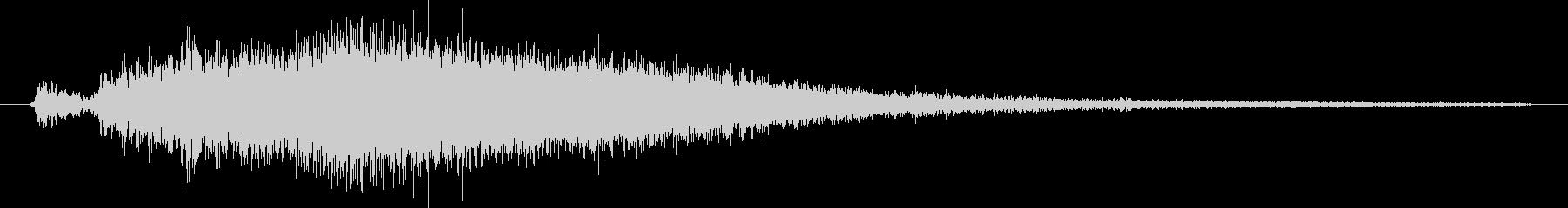 空気が放出される音の未再生の波形