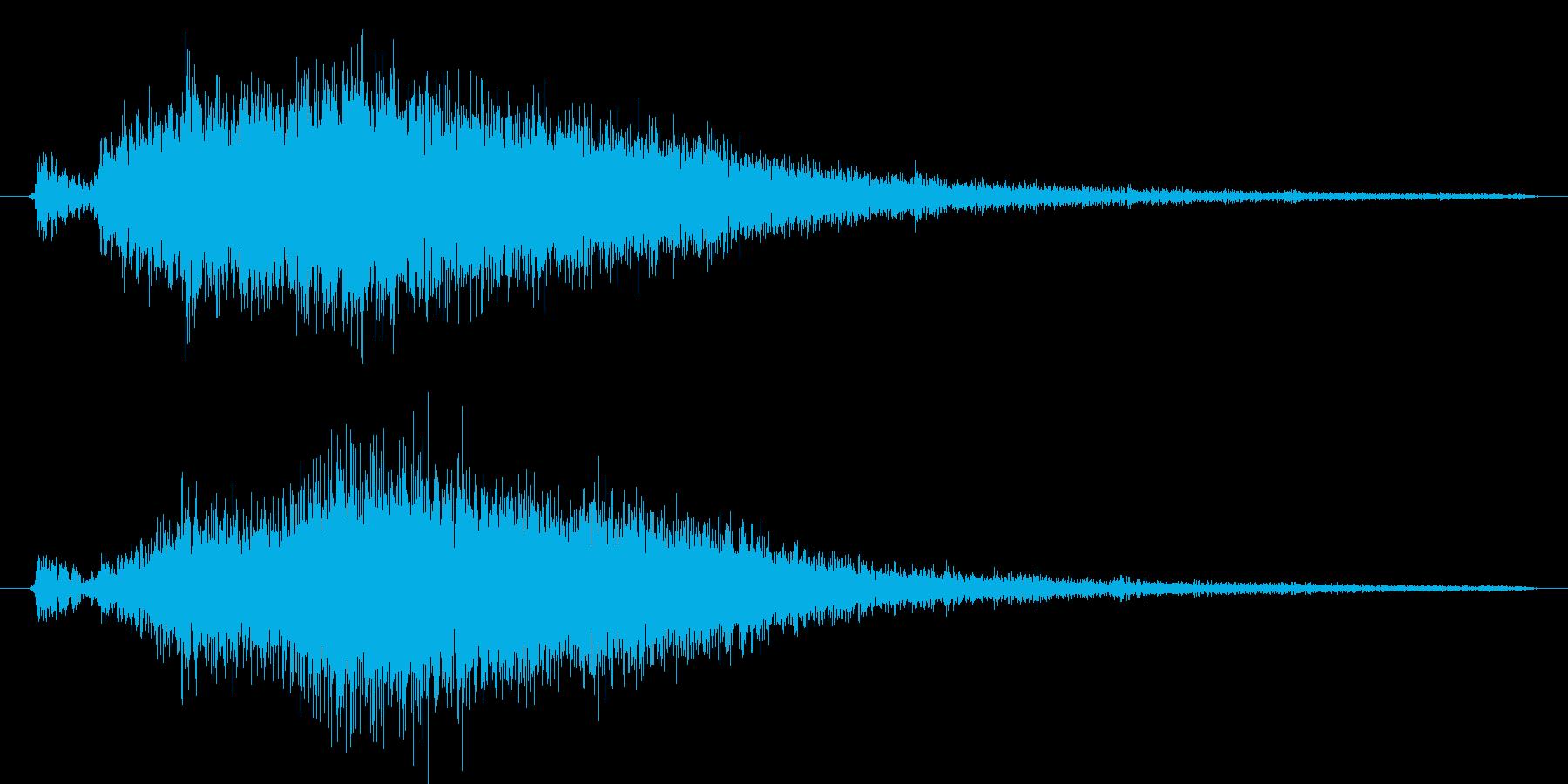 空気が放出される音の再生済みの波形