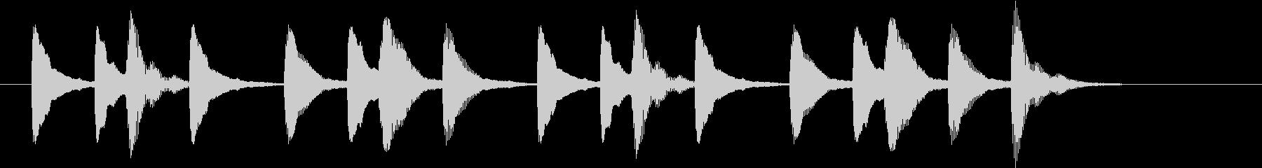 いつもと違うMarimbaの開演ベルの未再生の波形