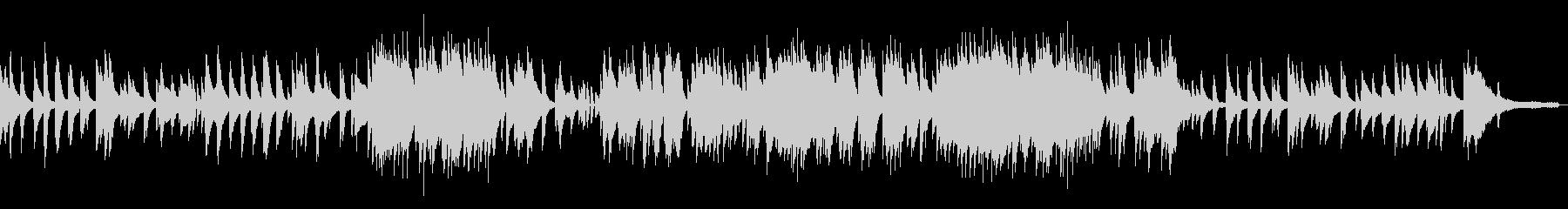 生演奏ピアノジャズバラードの未再生の波形