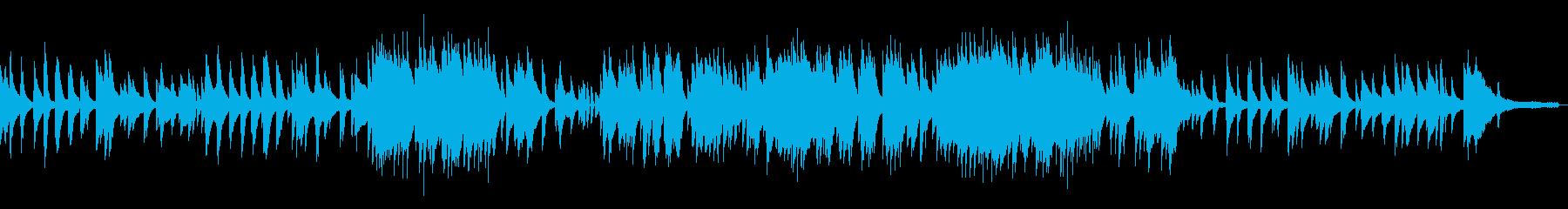 生演奏ピアノジャズバラードの再生済みの波形