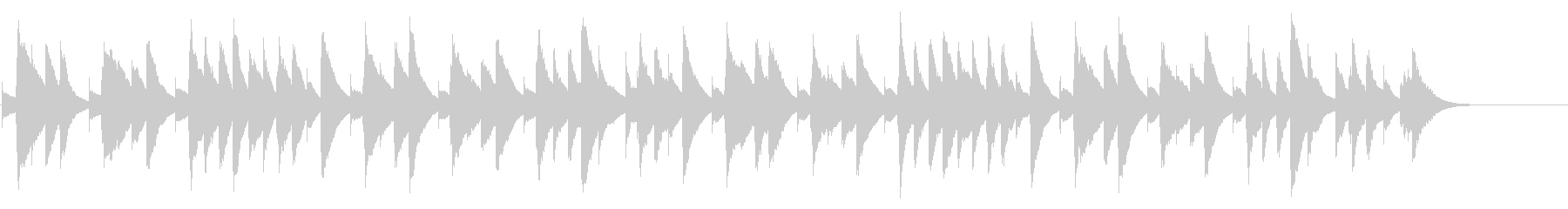 ハッピーバースデー カード式オルゴールの未再生の波形