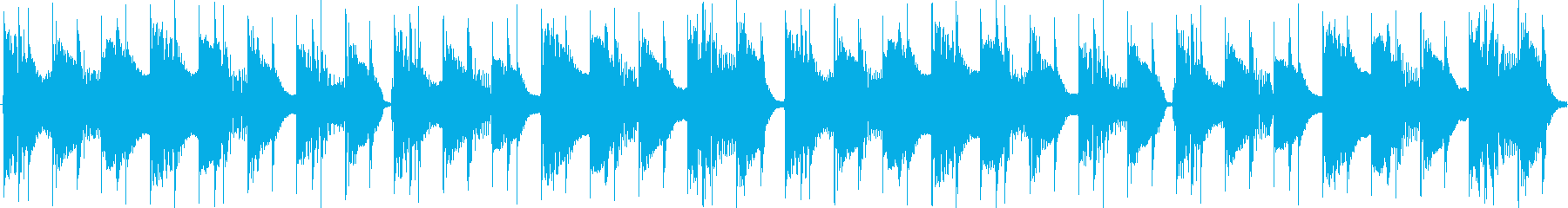 カチカチ音のZap系ディスコループの再生済みの波形