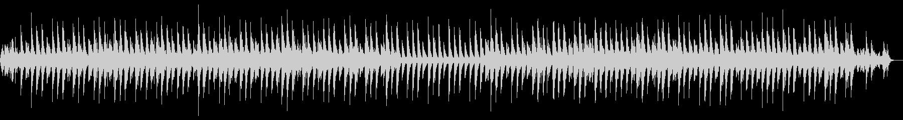 落ち着いた美しい音色のヒーリングBGMの未再生の波形