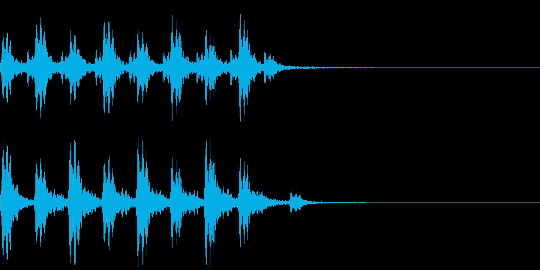 クリスマスサンタのベルの再生済みの波形