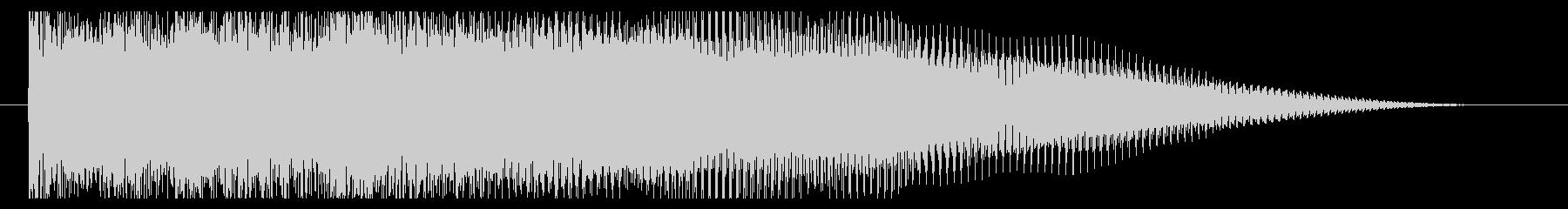 激しいエレキのジングルの未再生の波形