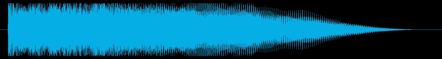 激しいエレキのジングルの再生済みの波形