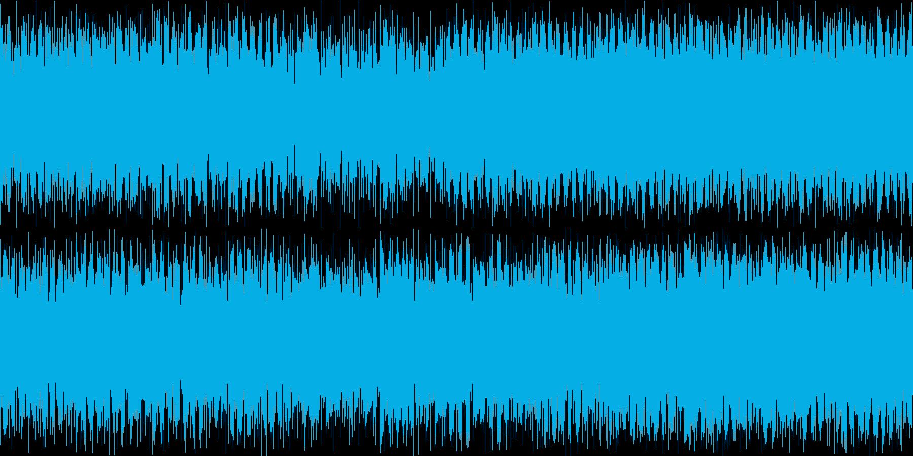 クールなDrum'NBassループの再生済みの波形