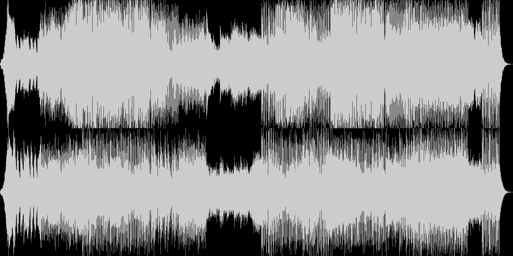 ミドルテンポでアンビエントなBGMの未再生の波形