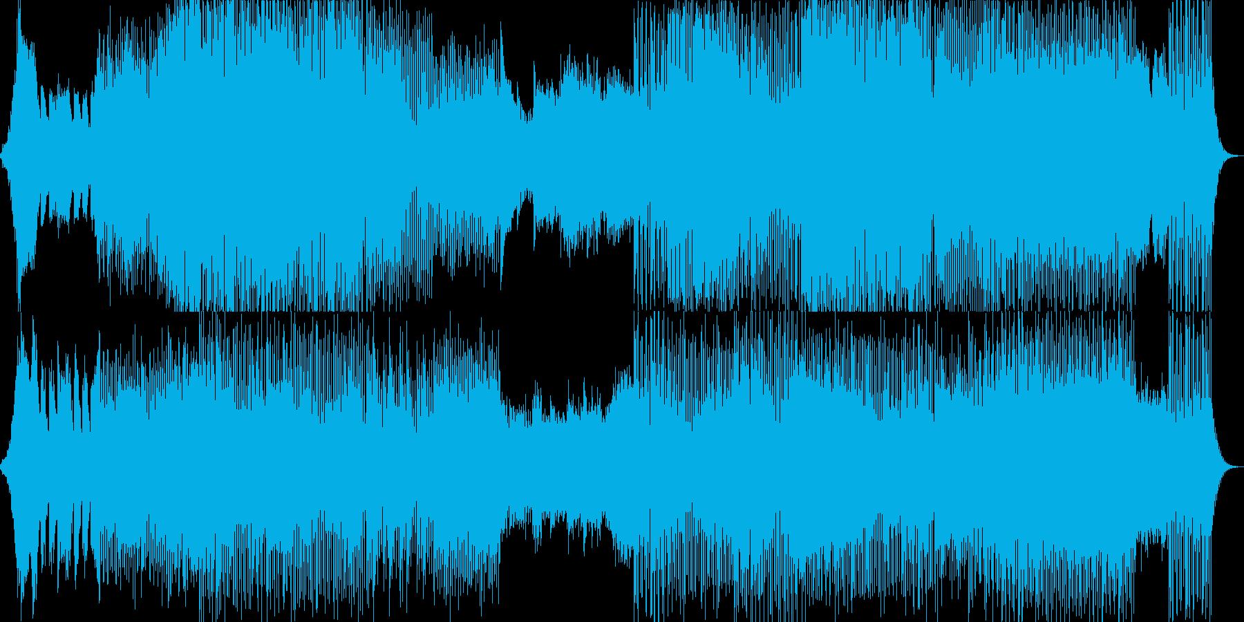 ミドルテンポでアンビエントなBGMの再生済みの波形