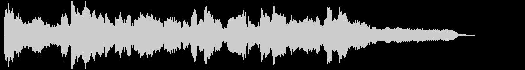 ジャズフルートの美しいバラード15秒CMの未再生の波形