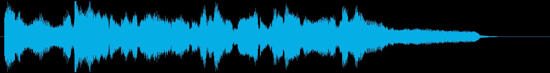 ジャズフルートの美しいバラード15秒CMの再生済みの波形