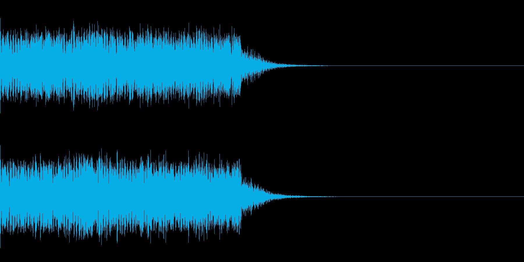 スパーク音-02の再生済みの波形
