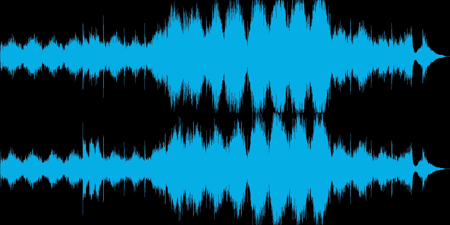 ホラーな雰囲気のオーケストラの再生済みの波形