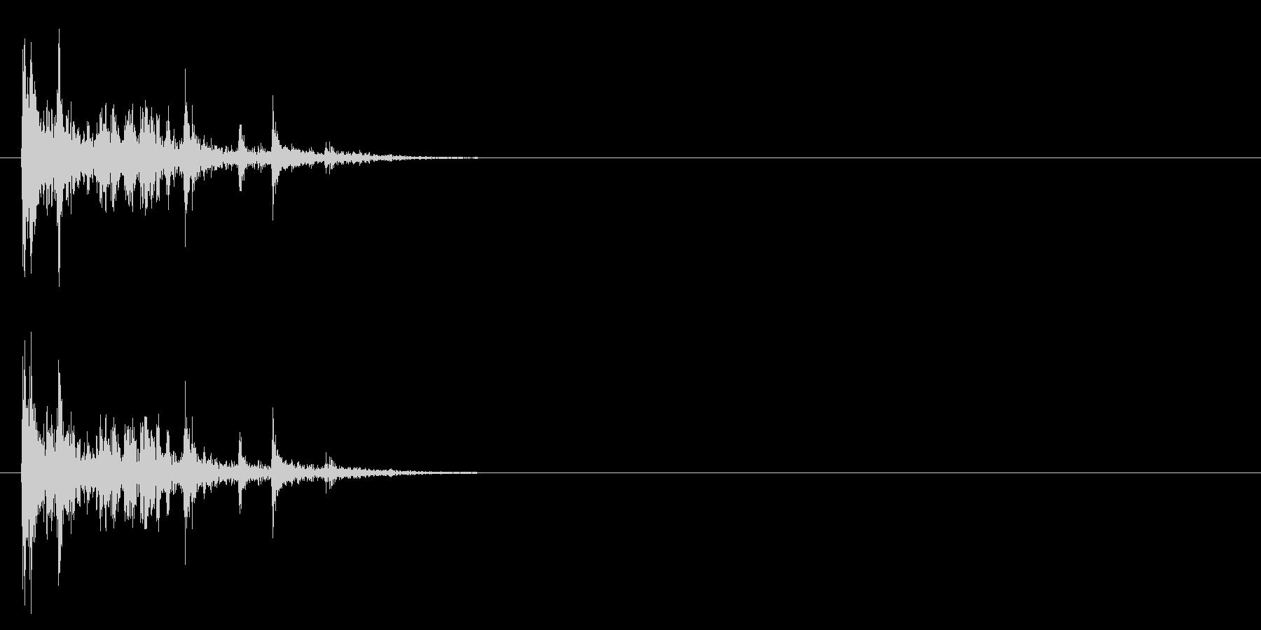 [生録音]カードを整える、散らばる音01の未再生の波形