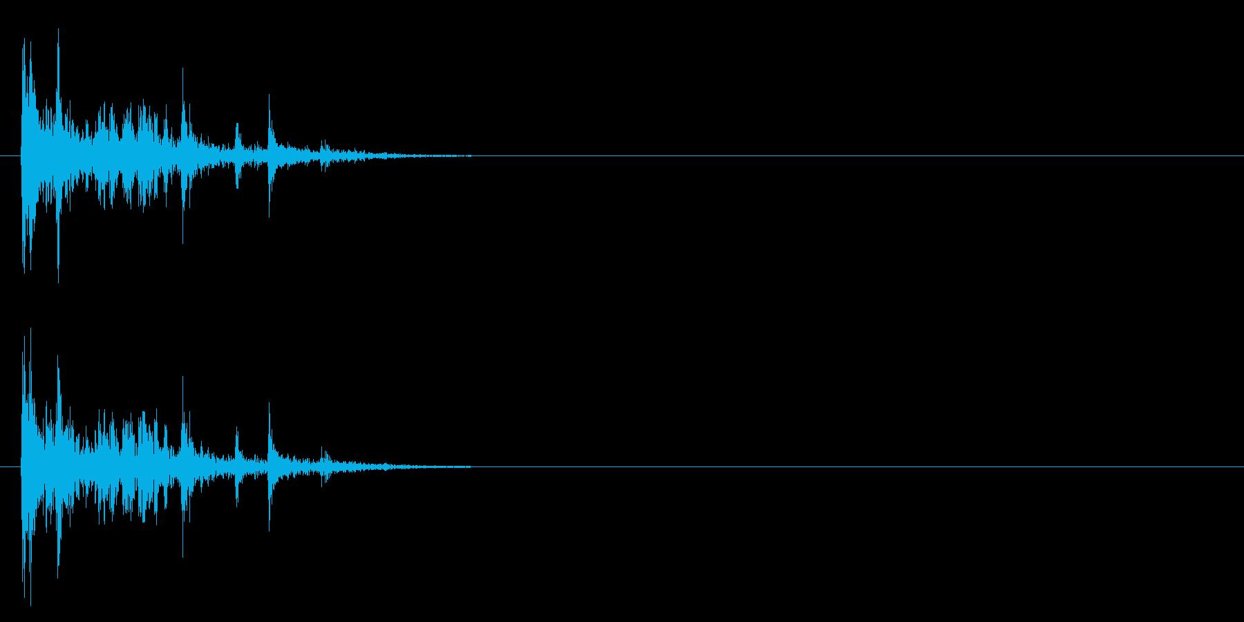 [生録音]カードを整える、散らばる音01の再生済みの波形