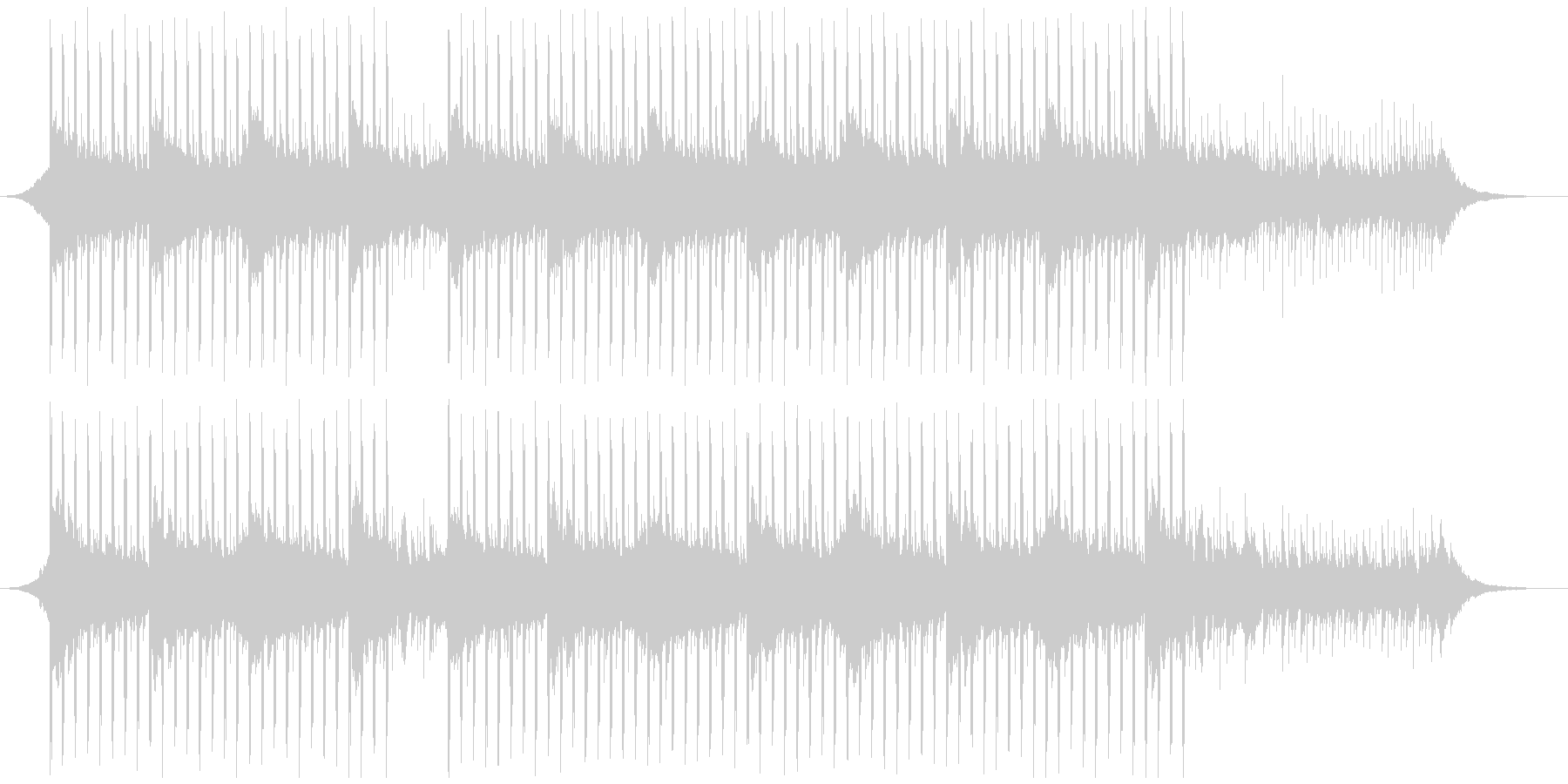 プレゼンテーション音楽(60秒)の未再生の波形