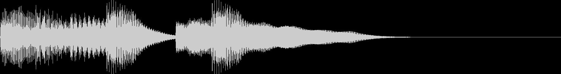 ピアノのシンプルファンファーレの未再生の波形