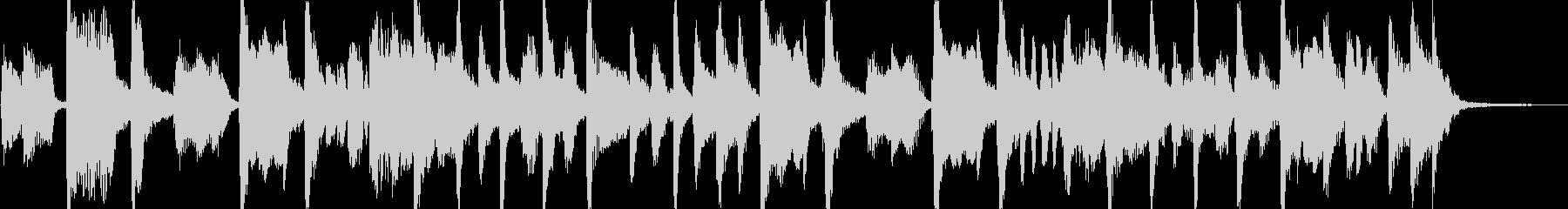キーボードメインの軽快なロック風ジングルの未再生の波形