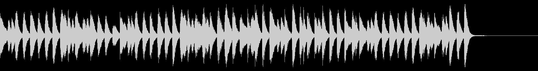 クリスマス定番曲のピアノラグ_短めの未再生の波形