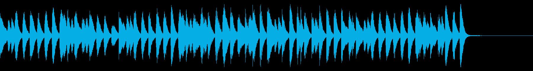 クリスマス定番曲のピアノラグ_短めの再生済みの波形